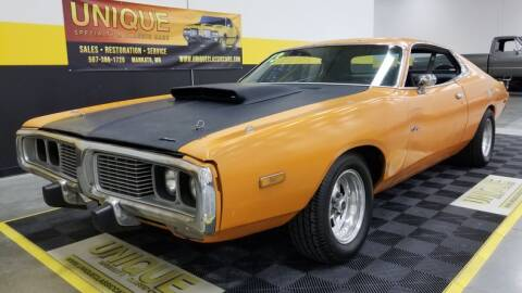 1973 Dodge Charger for sale at UNIQUE SPECIALTY & CLASSICS in Mankato MN