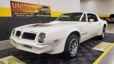 1976 Pontiac Firebird for sale at UNIQUE SPECIALTY & CLASSICS in Mankato MN