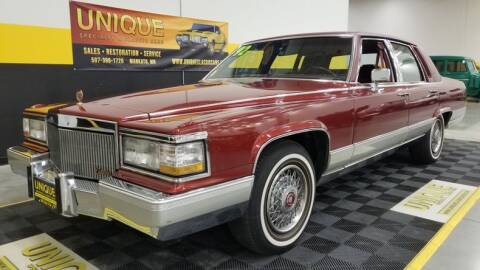1992 Cadillac Brougham for sale at UNIQUE SPECIALTY & CLASSICS in Mankato MN