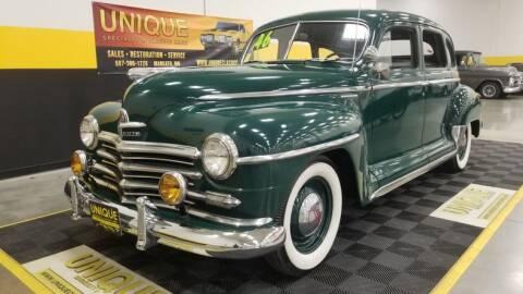 1946 Plymouth Special De Luxe for sale at UNIQUE SPECIALTY & CLASSICS in Mankato MN