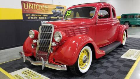 1935 Ford Deluxe for sale at UNIQUE SPECIALTY & CLASSICS in Mankato MN