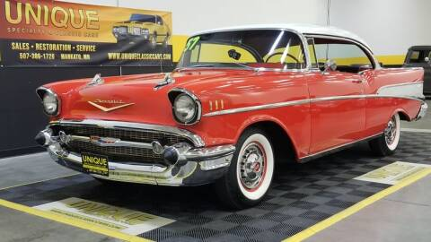 1957 Chevrolet Bel Air for sale at UNIQUE SPECIALTY & CLASSICS in Mankato MN
