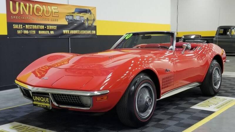 1970 Chevrolet Corvette for sale at UNIQUE SPECIALTY & CLASSICS in Mankato MN