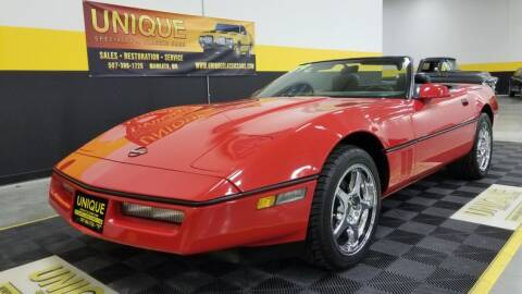 1989 Chevrolet Corvette for sale at UNIQUE SPECIALTY & CLASSICS in Mankato MN