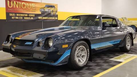 1981 Chevrolet Camaro for sale at UNIQUE SPECIALTY & CLASSICS in Mankato MN