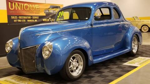 1939 Ford Deluxe for sale at UNIQUE SPECIALTY & CLASSICS in Mankato MN