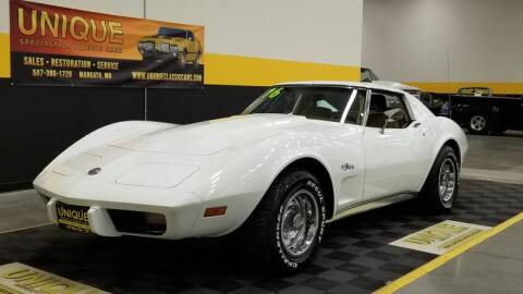 1976 Chevrolet Corvette for sale at UNIQUE SPECIALTY & CLASSICS in Mankato MN