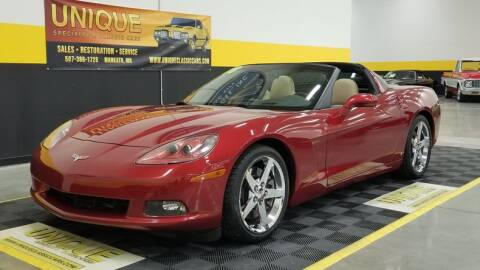 2008 Chevrolet Corvette for sale at UNIQUE SPECIALTY & CLASSICS in Mankato MN