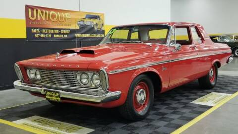 1963 Plymouth Belvedere for sale at UNIQUE SPECIALTY & CLASSICS in Mankato MN