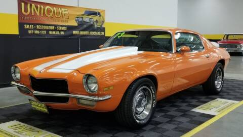 1973 Chevrolet Camaro for sale at UNIQUE SPECIALTY & CLASSICS in Mankato MN