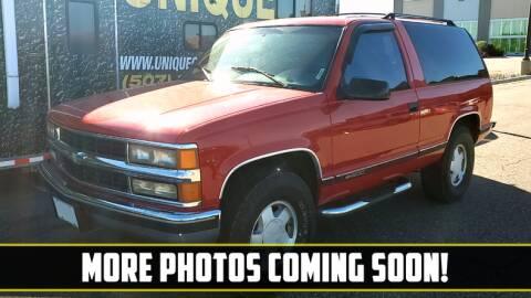 1995 Chevrolet Tahoe for sale at UNIQUE SPECIALTY & CLASSICS in Mankato MN