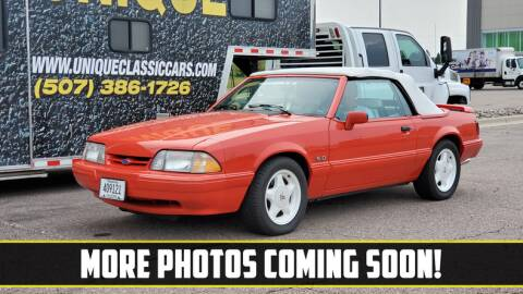 1992 Ford Mustang for sale at UNIQUE SPECIALTY & CLASSICS in Mankato MN