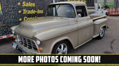 1955 Chevrolet 3100 for sale at UNIQUE SPECIALTY & CLASSICS in Mankato MN