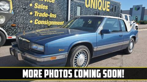 1991 Cadillac Eldorado for sale at UNIQUE SPECIALTY & CLASSICS in Mankato MN