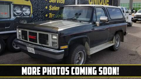 1988 GMC Jimmy for sale at UNIQUE SPECIALTY & CLASSICS in Mankato MN