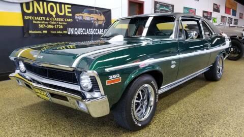 1971 Chevrolet Nova for sale at UNIQUE SPECIALTY & CLASSICS in Mankato MN
