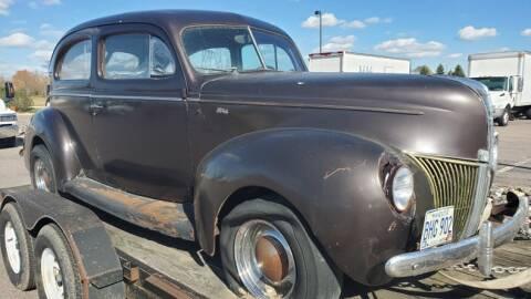 1940 Ford Tudor for sale at UNIQUE SPECIALTY & CLASSICS in Mankato MN