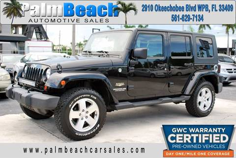 2007 Jeep Wrangler Unlimited for sale at Palm Beach Automotive Sales in West Palm Beach FL