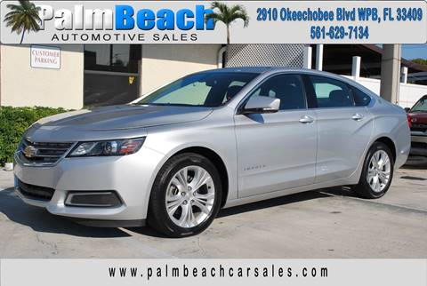 2015 Chevrolet Impala for sale at Palm Beach Automotive Sales in West Palm Beach FL