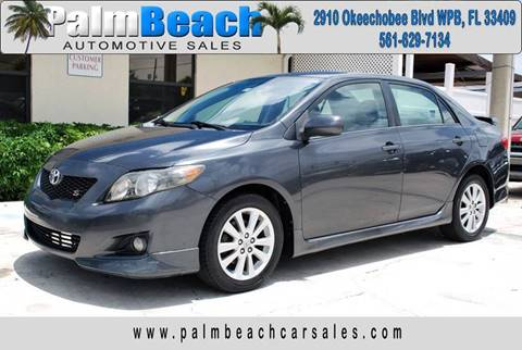 2009 Toyota Corolla for sale at Palm Beach Automotive Sales in West Palm Beach FL