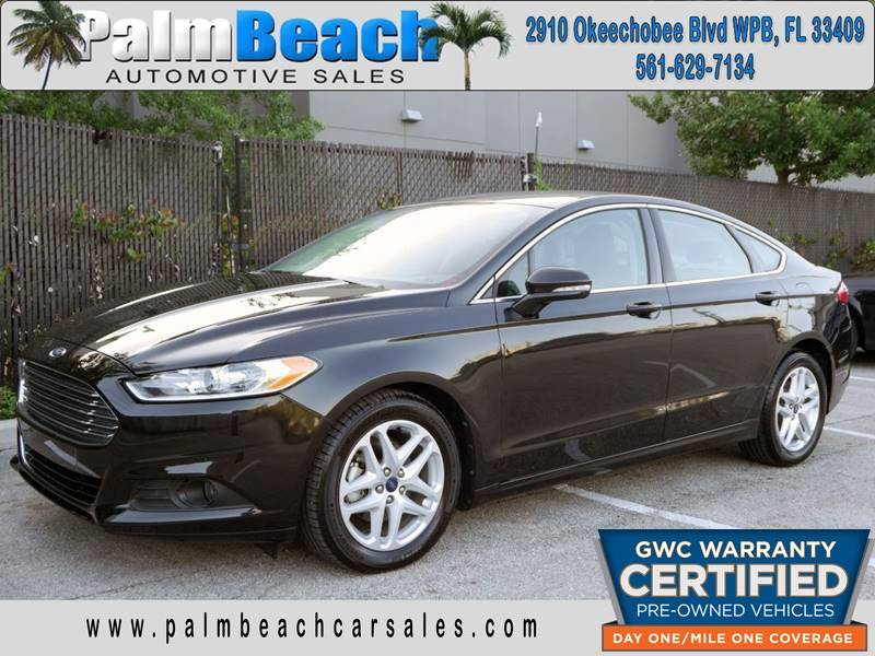 2014 Ford Fusion for sale at Palm Beach Automotive Sales in West Palm Beach FL
