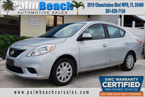 2014 Nissan Versa for sale at Palm Beach Automotive Sales in West Palm Beach FL