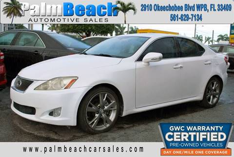 2009 Lexus IS 250 for sale at Palm Beach Automotive Sales in West Palm Beach FL