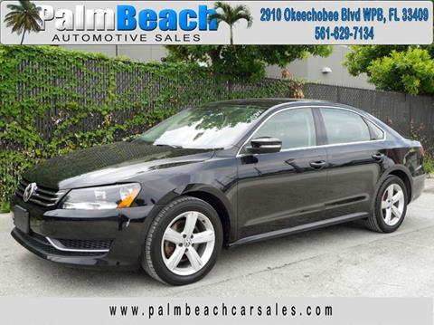 2013 Volkswagen Passat for sale at Palm Beach Automotive Sales in West Palm Beach FL