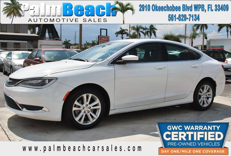 2015 Chrysler 200 for sale at Palm Beach Automotive Sales in West Palm Beach FL