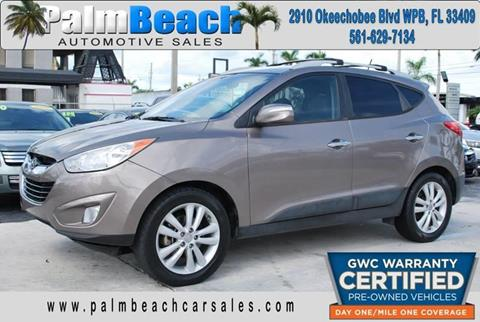 2012 Hyundai Tucson for sale at Palm Beach Automotive Sales in West Palm Beach FL