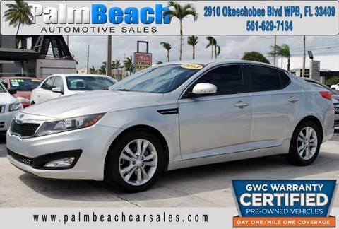 2013 Kia Optima for sale at Palm Beach Automotive Sales in West Palm Beach FL