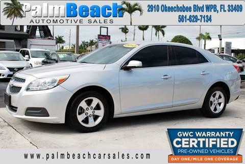 2013 Chevrolet Malibu for sale at Palm Beach Automotive Sales in West Palm Beach FL