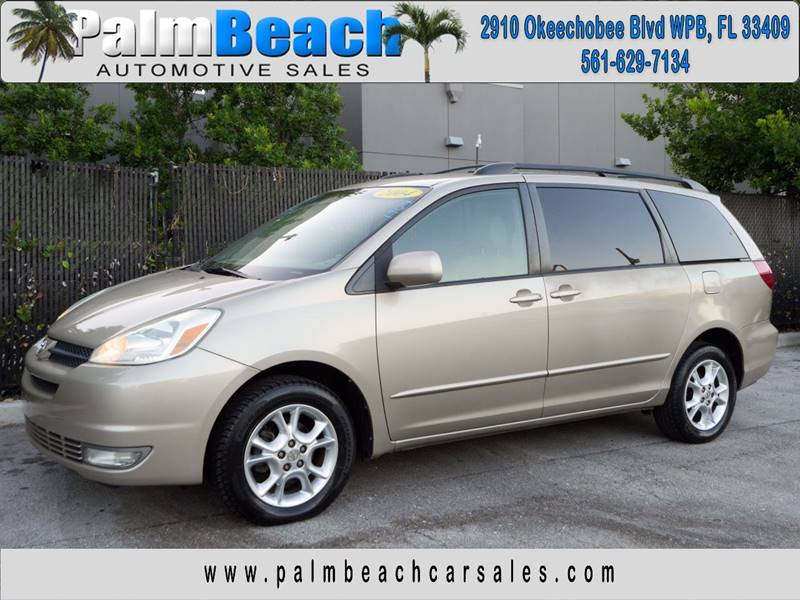 2004 Toyota Sienna for sale at Palm Beach Automotive Sales in West Palm Beach FL