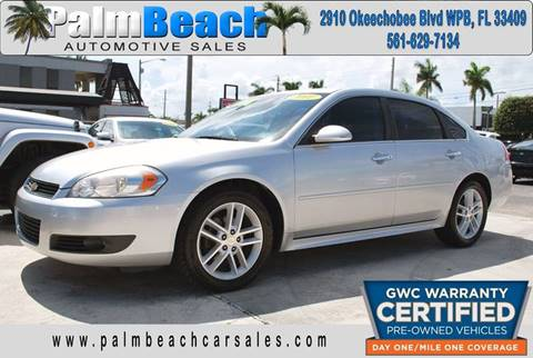 2011 Chevrolet Impala for sale at Palm Beach Automotive Sales in West Palm Beach FL