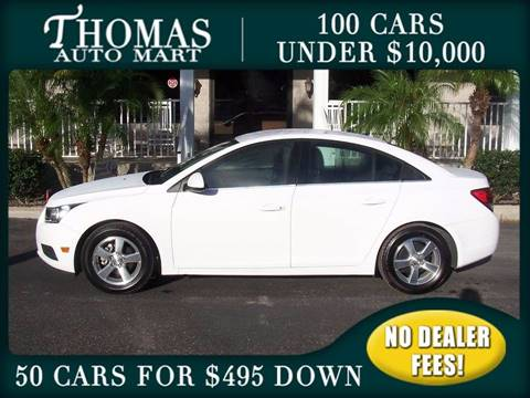 2013 Chevrolet Cruze for sale in Dade City, FL