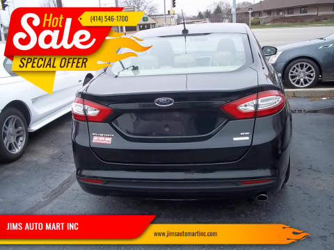 2014 Ford Fusion SE for sale at JIMS AUTO MART INC in Milwaukee WI
