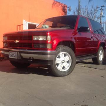 1996 Chevrolet Tahoe for sale at GENERATION 1 MOTORSPORTS #1 in Los Angeles CA