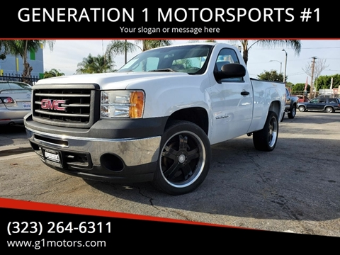 2013 GMC Sierra 1500 Work Truck for sale at GENERATION 1 MOTORSPORTS #1 in Los Angeles CA