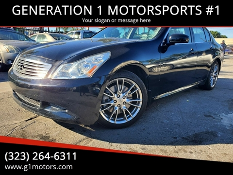 2007 Infiniti G35 Sport for sale at GENERATION 1 MOTORSPORTS #1 in Los Angeles CA