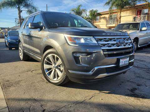 2018 Ford Explorer Limited for sale at GENERATION 1 MOTORSPORTS #1 in Los Angeles CA
