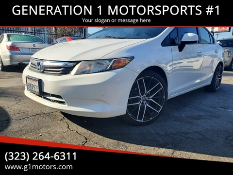 2012 Honda Civic LX for sale at GENERATION 1 MOTORSPORTS #1 in Los Angeles CA