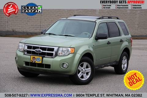 Ford Escape Hybrid For Sale >> Used Ford Escape Hybrid For Sale In Massachusetts Carsforsale Com