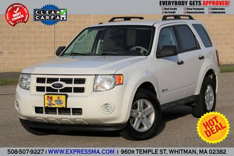 Ford Escape Hybrid For Sale >> 2009 Ford Escape Hybrid For Sale In Whitman Ma