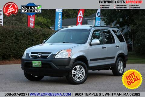 2003 Honda CR-V for sale at Auto Sales Express in Whitman MA