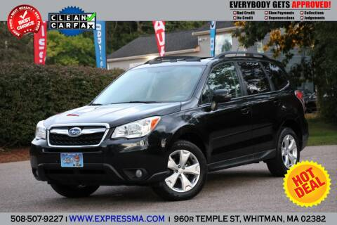 2014 Subaru Forester for sale at Auto Sales Express in Whitman MA