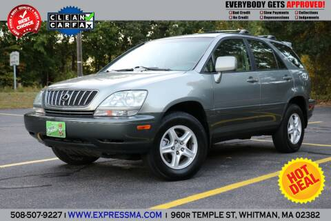 2001 Lexus RX 300 for sale at Auto Sales Express in Whitman MA