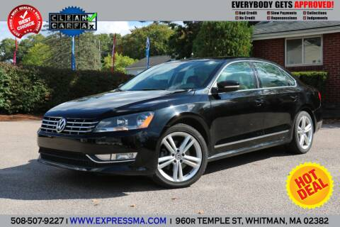 2014 Volkswagen Passat for sale at Auto Sales Express in Whitman MA