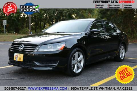 2012 Volkswagen Passat for sale at Auto Sales Express in Whitman MA