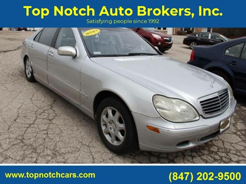 2001 Mercedes-Benz S-Class for sale at Top Notch Auto Brokers, Inc. in Palatine IL