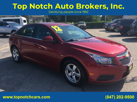 2012 Chevrolet Cruze for sale at Top Notch Auto Brokers, Inc. in Palatine IL